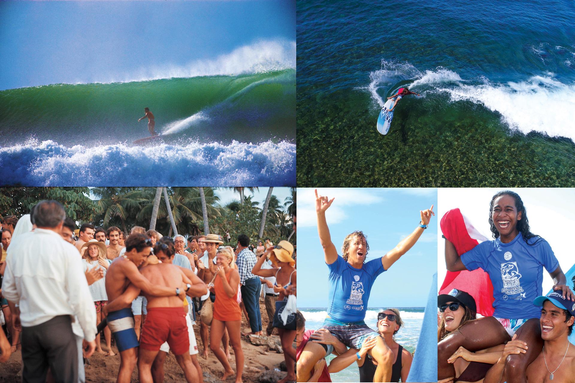 WSL professional longboarding contest in Rincon, Puerto Rico.